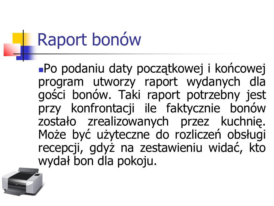 Raport bonów