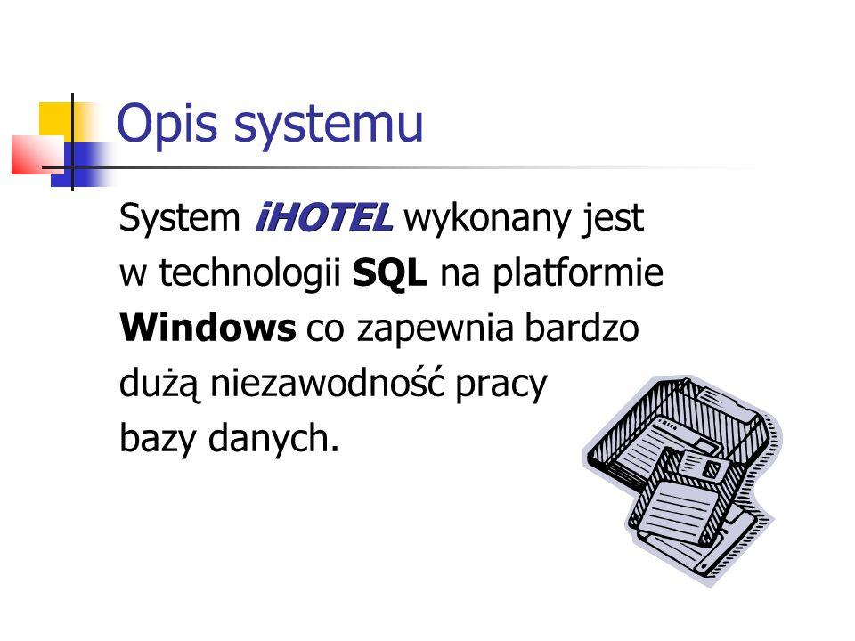 Opis systemu System iHOTEL wykonany jest