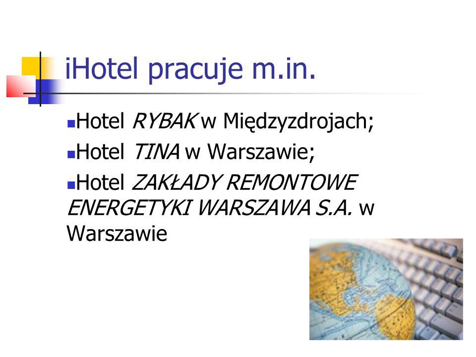 iHotel pracuje m.in. Hotel RYBAK w Międzyzdrojach;