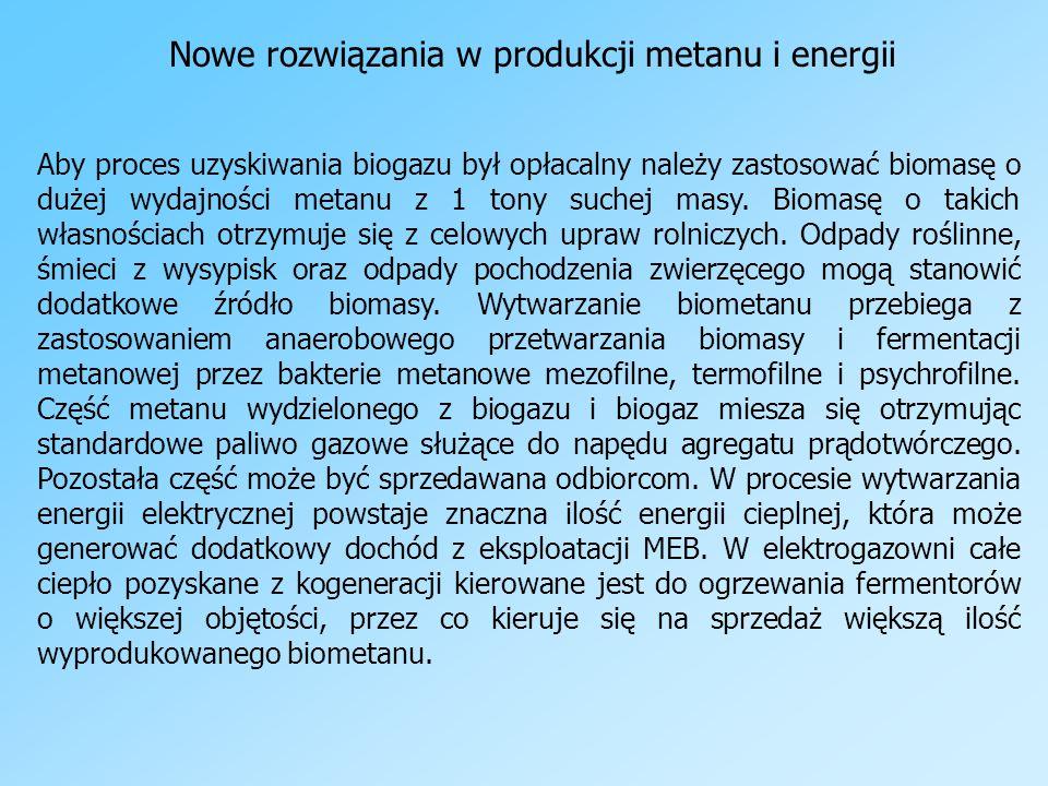 Nowe rozwiązania w produkcji metanu i energii