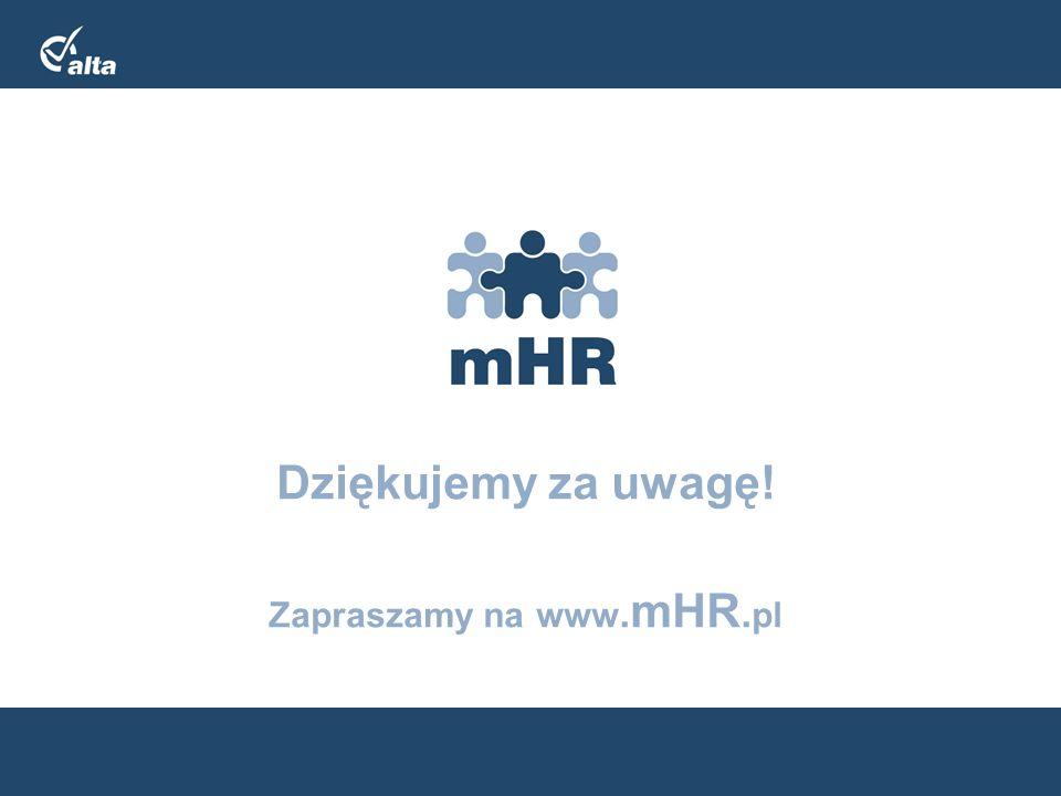 Zapraszamy na www.mHR.pl