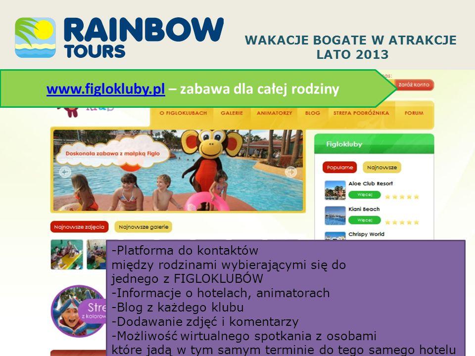 WAKACJE BOGATE W ATRAKCJE www.figlokluby.pl – zabawa dla całej rodziny