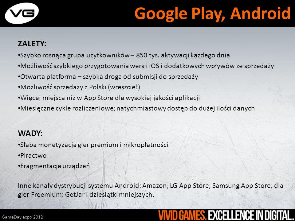 Google Play, Android ZALETY: WADY: