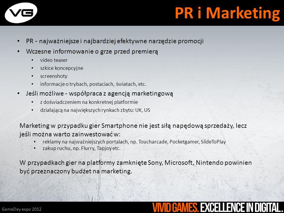 PR i Marketing PR - najważniejsze i najbardziej efektywne narzędzie promocji. Wczesne informowanie o grze przed premierą.