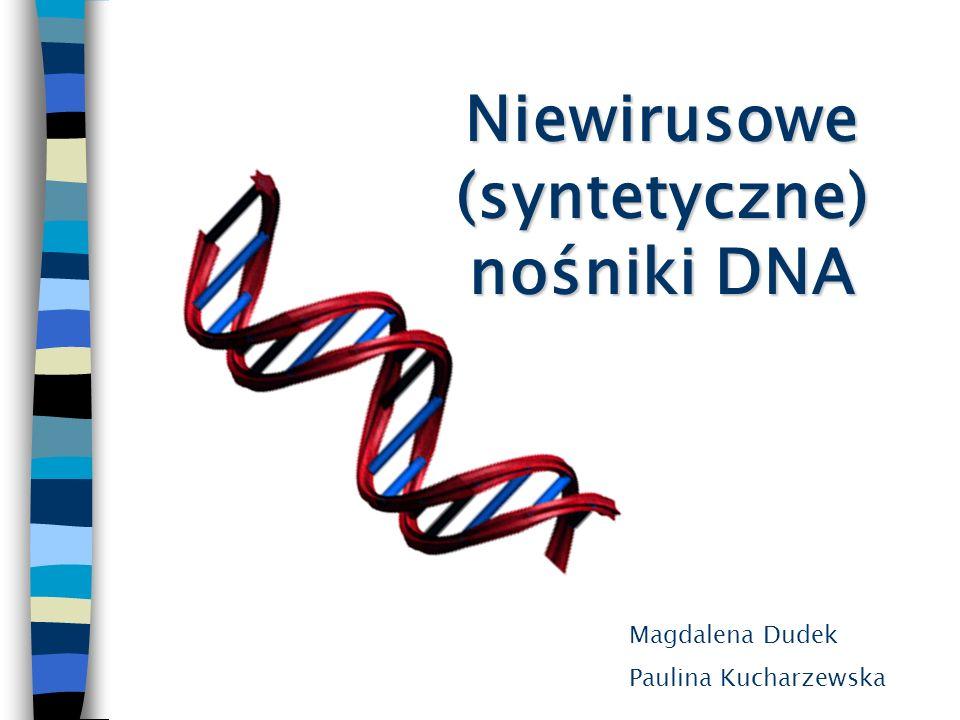Niewirusowe (syntetyczne) nośniki DNA
