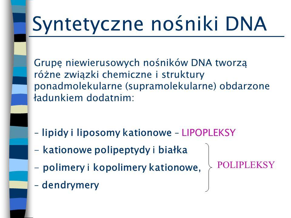 Syntetyczne nośniki DNA