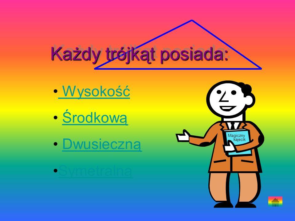 Każdy trójkąt posiada: