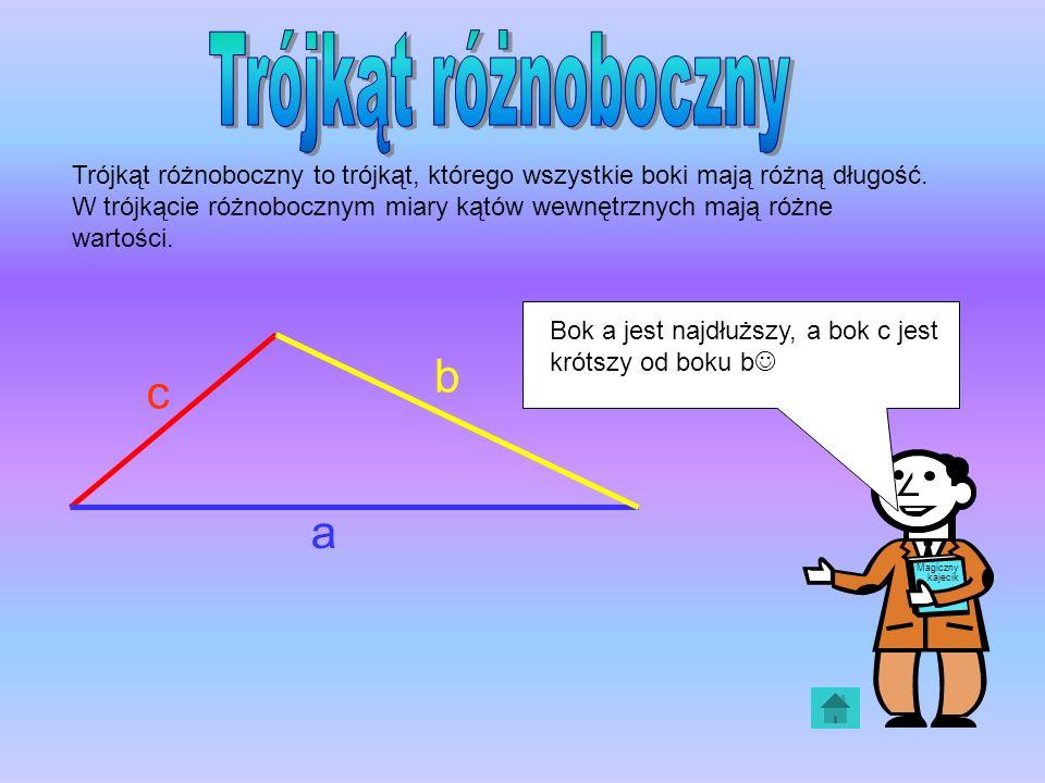 Trójkąt różnoboczny b c a