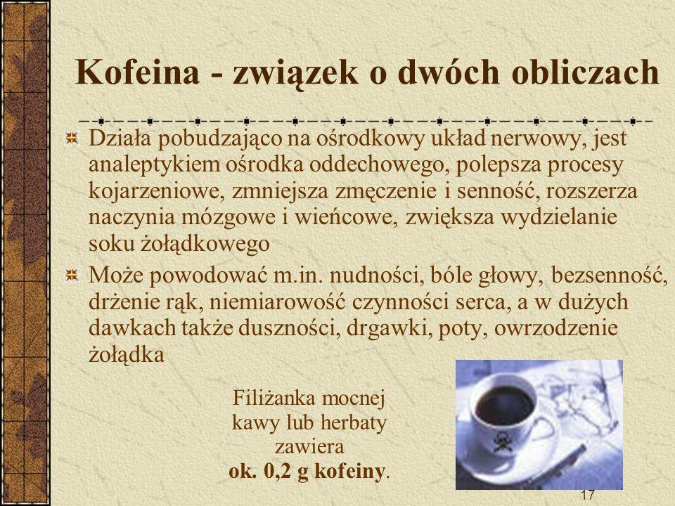 Kofeina - związek o dwóch obliczach