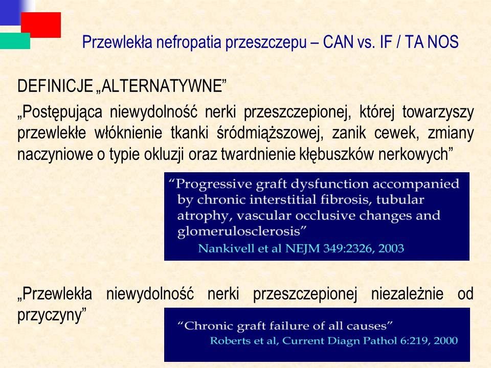 Przewlekła nefropatia przeszczepu – CAN vs. IF / TA NOS