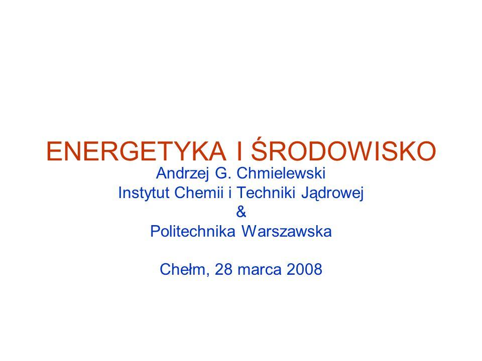 ENERGETYKA I ŚRODOWISKO