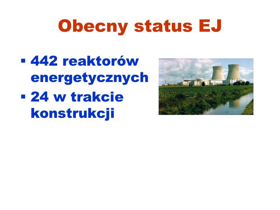 Obecny status EJ 442 reaktorów energetycznych 24 w trakcie konstrukcji