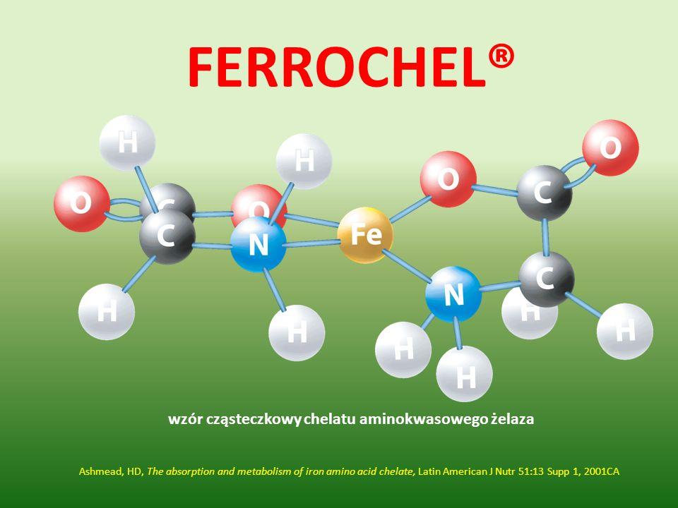 wzór cząsteczkowy chelatu aminokwasowego żelaza