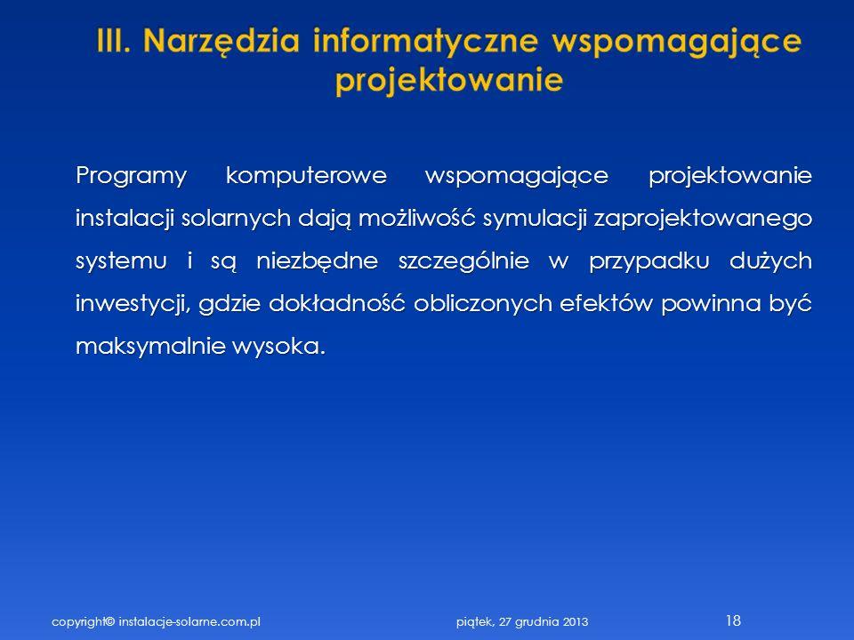 III. Narzędzia informatyczne wspomagające projektowanie
