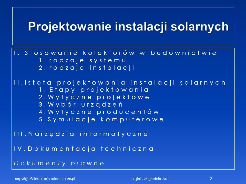 Projektowanie instalacji solarnych