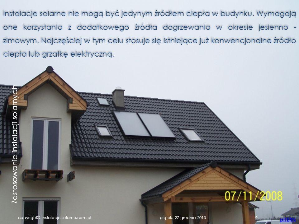projektowanie instalacji solarnych - grzewczych