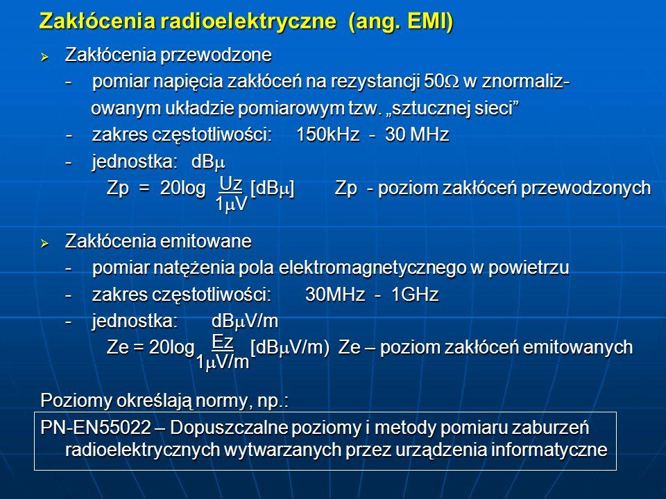 Zakłócenia radioelektryczne (ang. EMI)