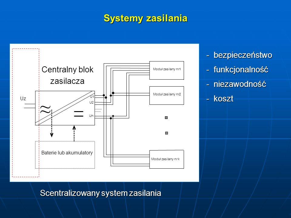 Scentralizowany system zasilania