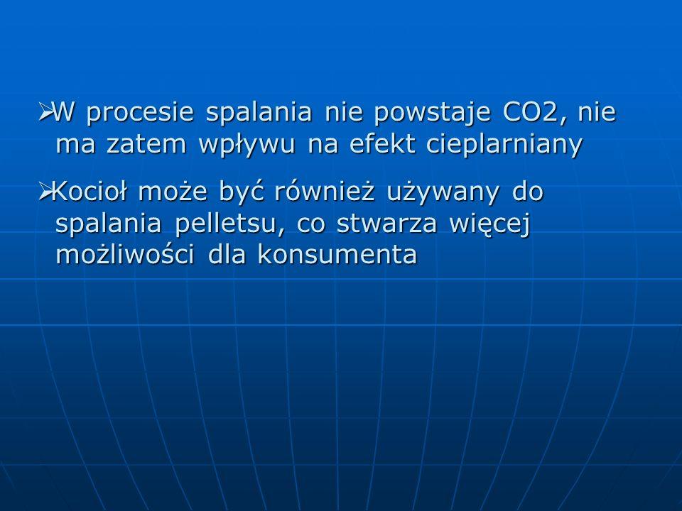 W procesie spalania nie powstaje CO2, nie ma zatem wpływu na efekt cieplarniany