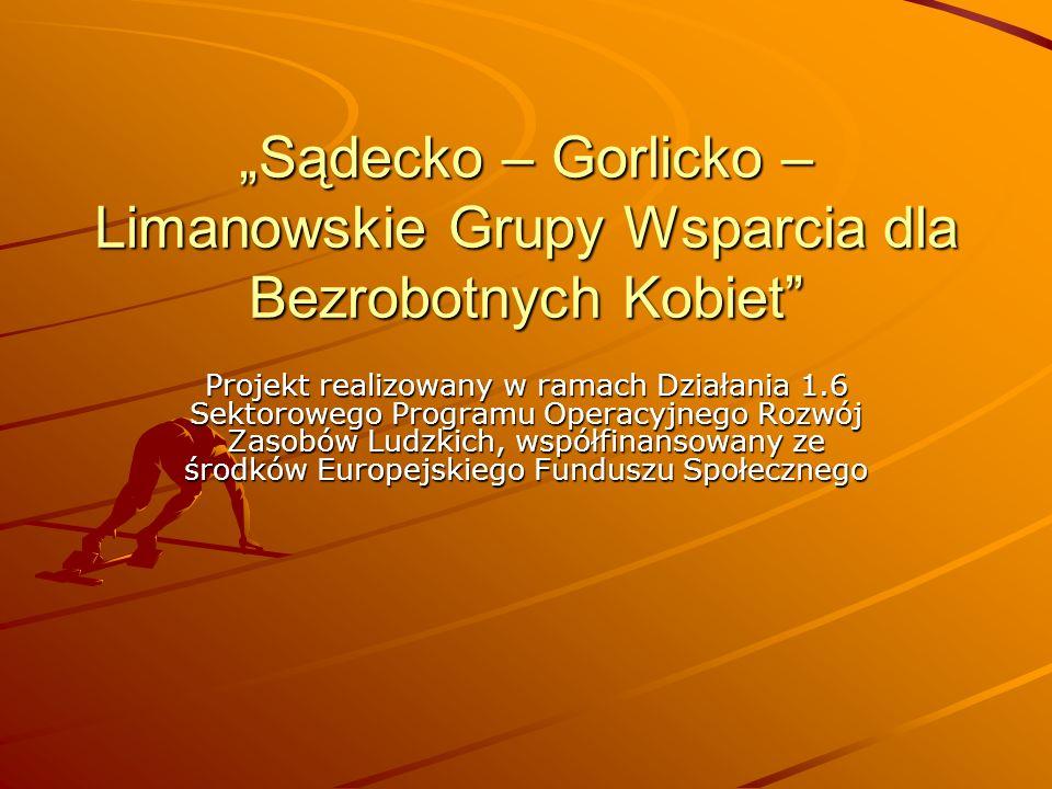"""""""Sądecko – Gorlicko – Limanowskie Grupy Wsparcia dla Bezrobotnych Kobiet"""