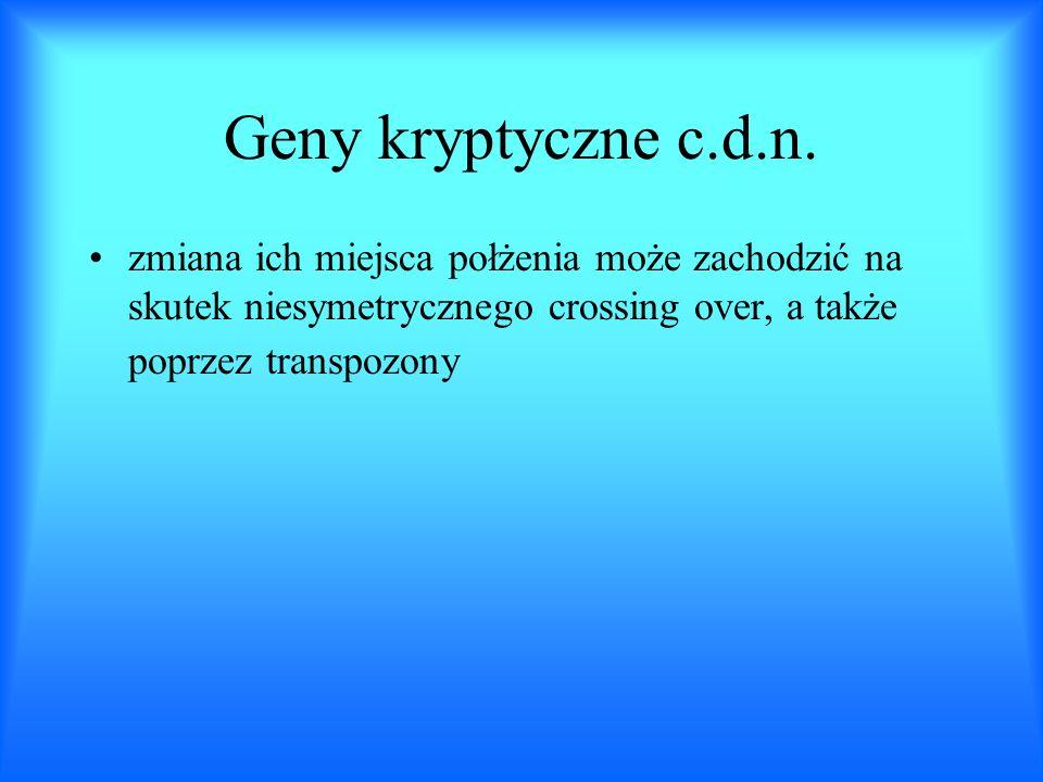 Geny kryptyczne c.d.n.