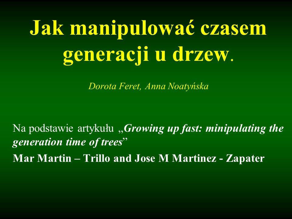 Jak manipulować czasem generacji u drzew. Dorota Feret, Anna Noatyńska