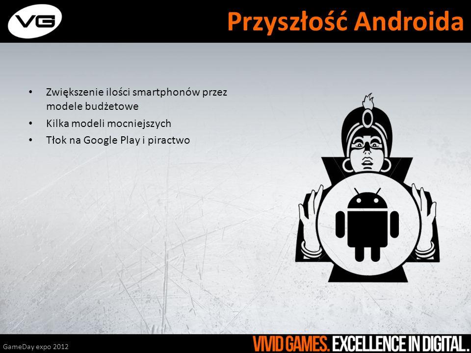 Przyszłość Androida Zwiększenie ilości smartphonów przez modele budżetowe. Kilka modeli mocniejszych.