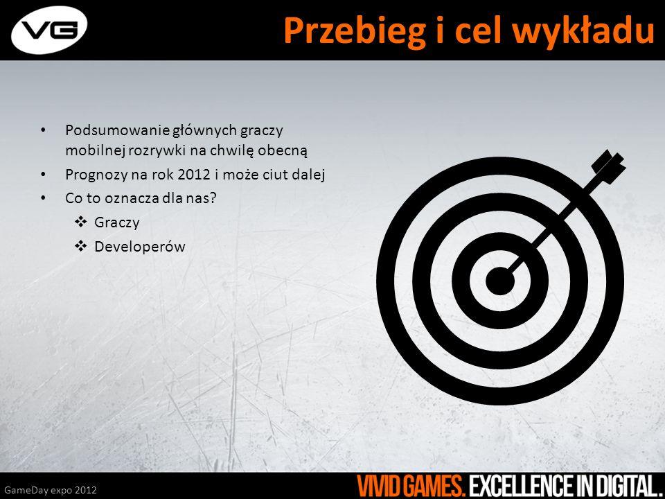Przebieg i cel wykładu Podsumowanie głównych graczy mobilnej rozrywki na chwilę obecną. Prognozy na rok 2012 i może ciut dalej.