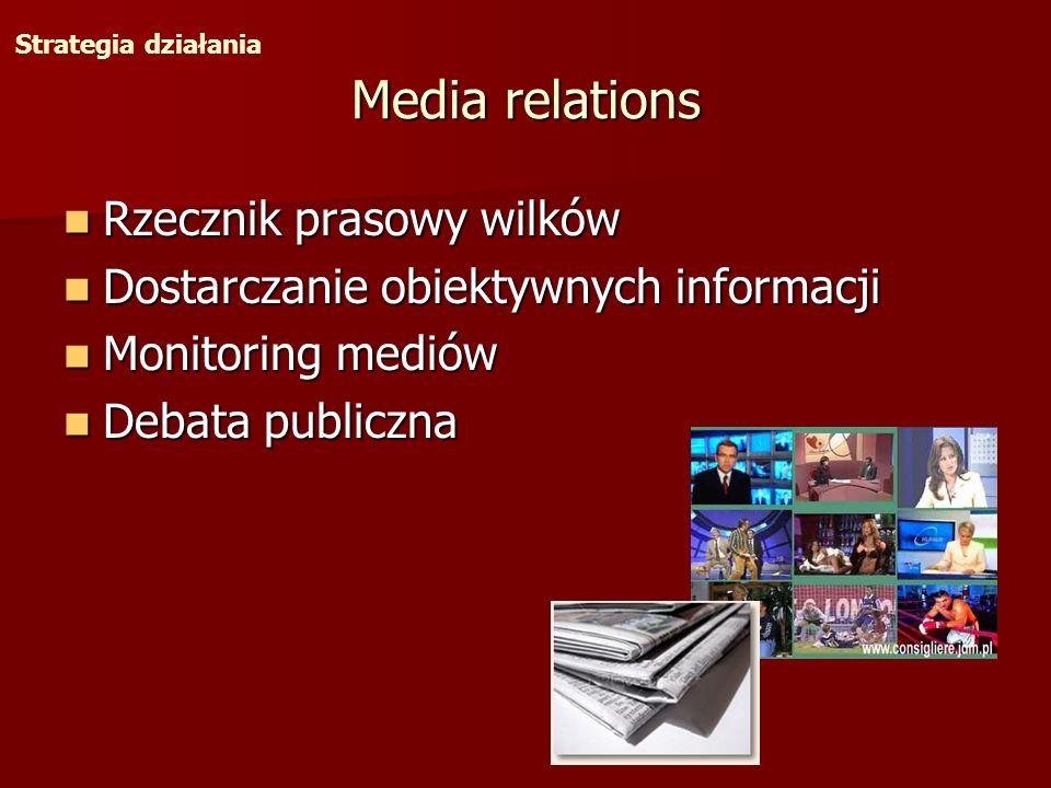Media relations Rzecznik prasowy wilków