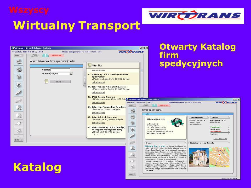 Wszyscy Wirtualny Transport Otwarty Katalog firm spedycyjnych Katalog