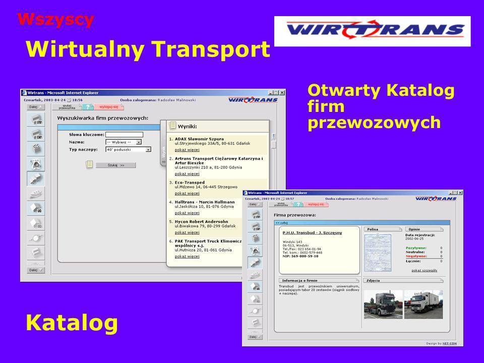 Wszyscy Wirtualny Transport Otwarty Katalog firm przewozowych Katalog