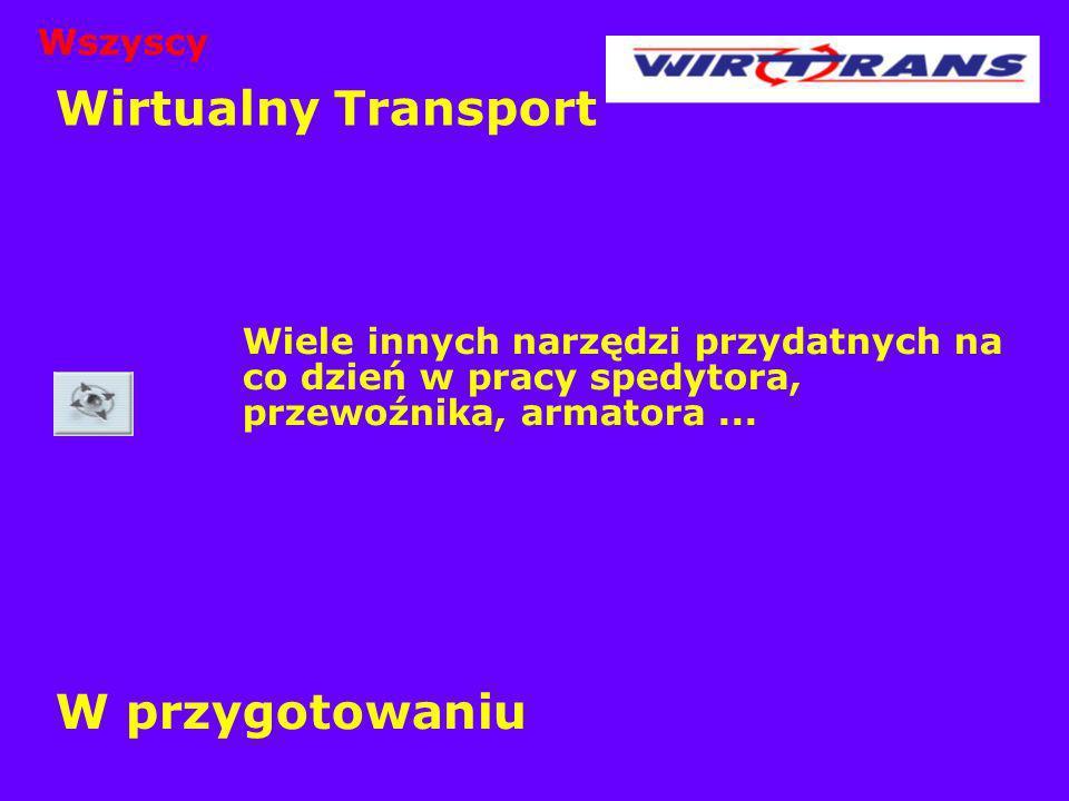 Wirtualny Transport W przygotowaniu Wszyscy