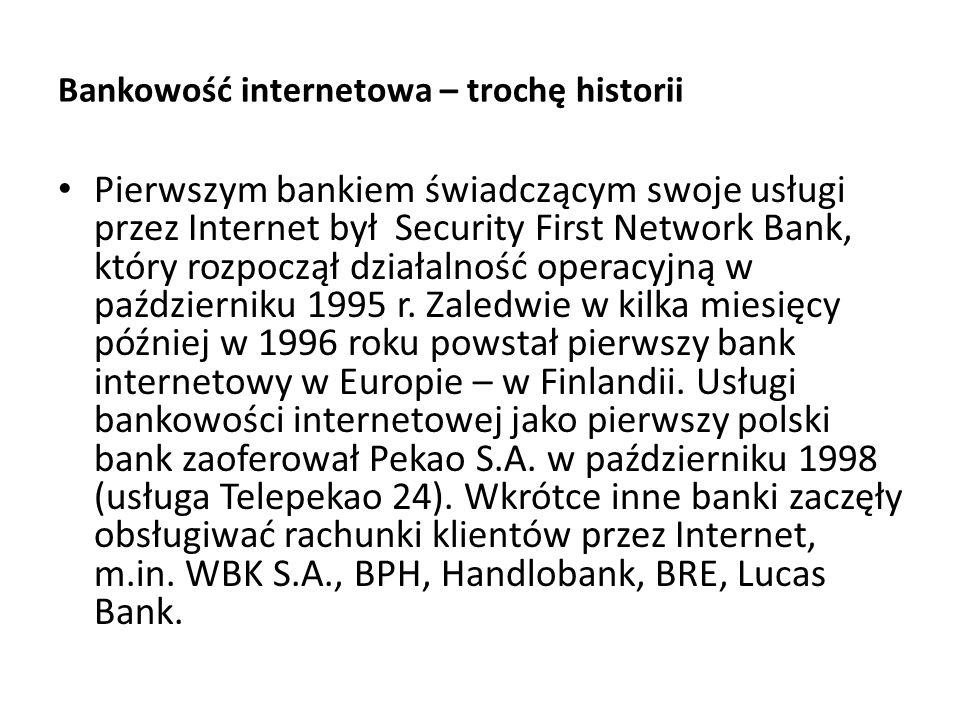 Bankowość internetowa – trochę historii