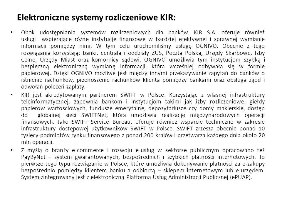 Elektroniczne systemy rozliczeniowe KIR: