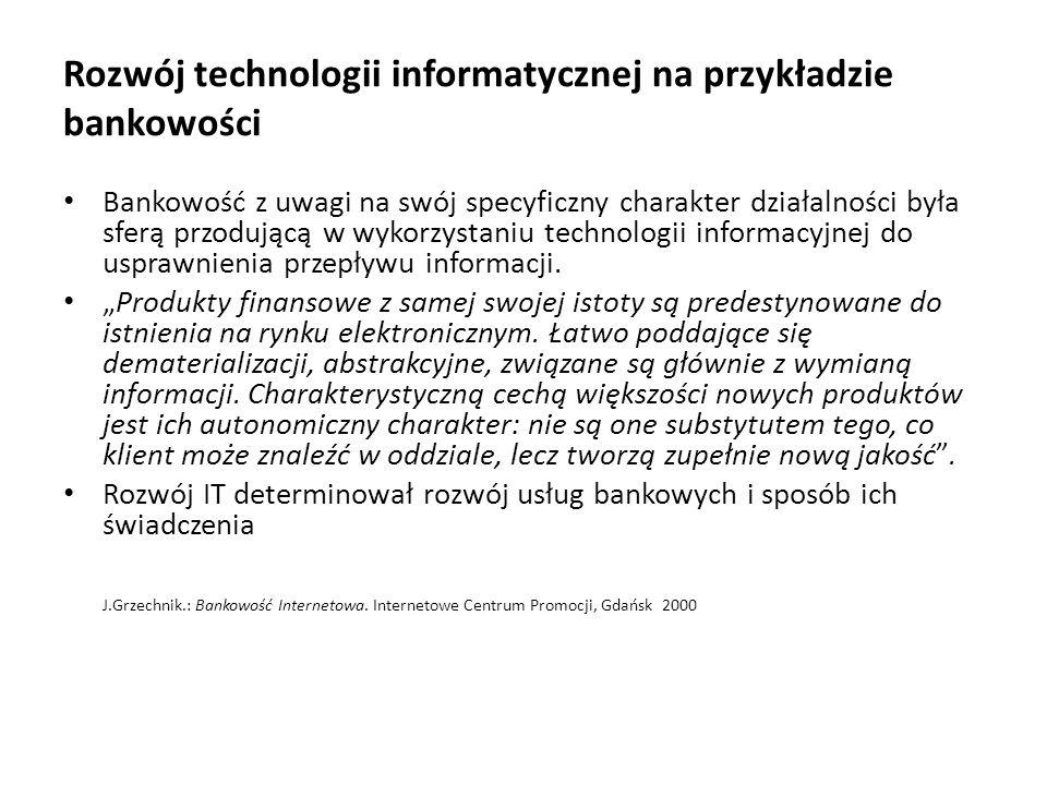 Rozwój technologii informatycznej na przykładzie bankowości