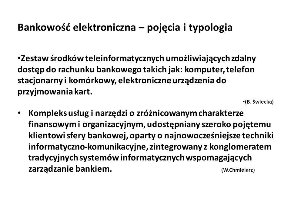 Bankowość elektroniczna – pojęcia i typologia