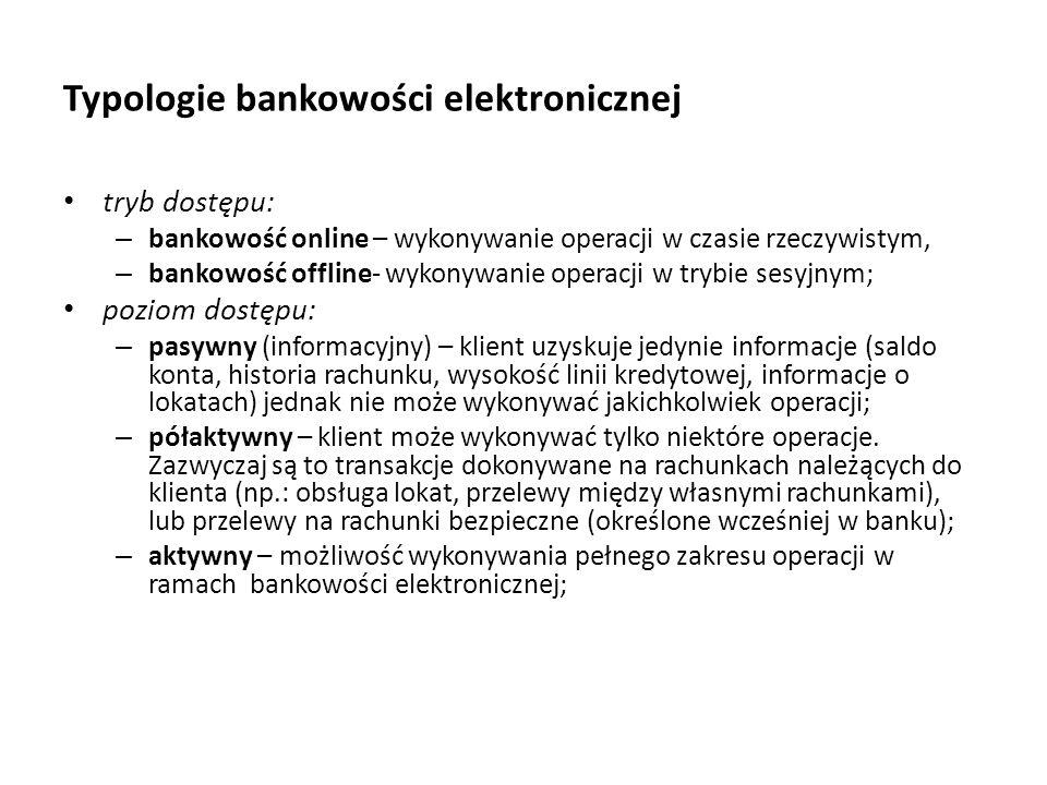 Typologie bankowości elektronicznej