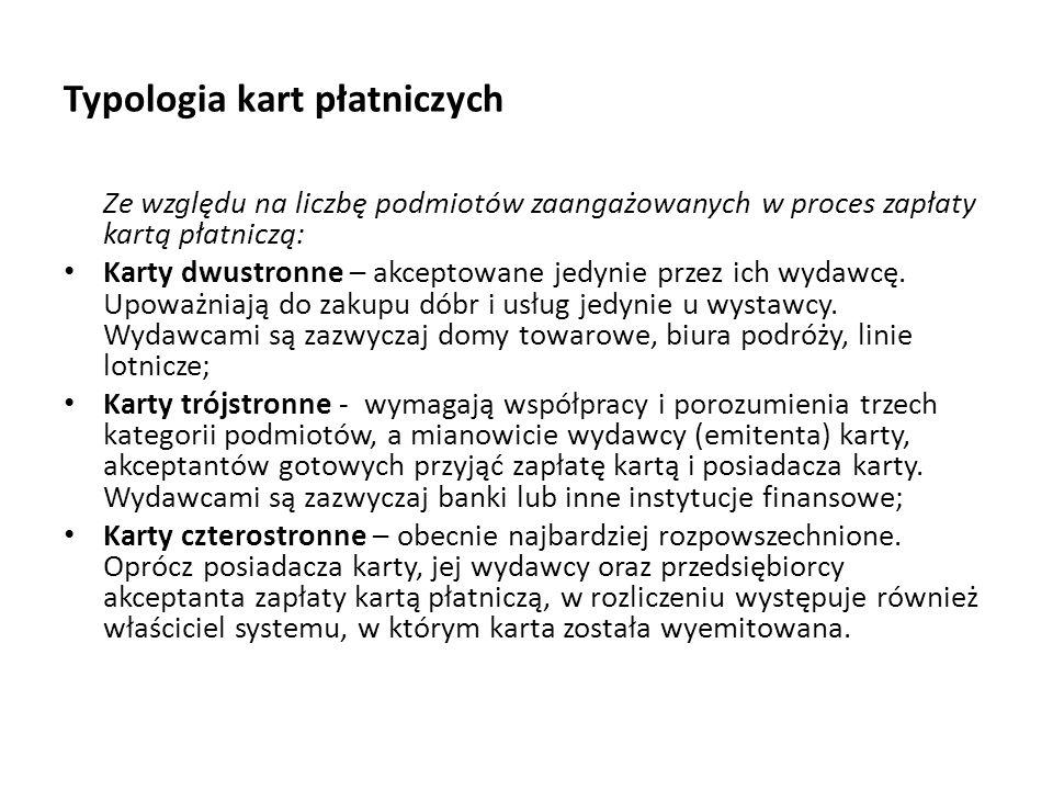 Typologia kart płatniczych
