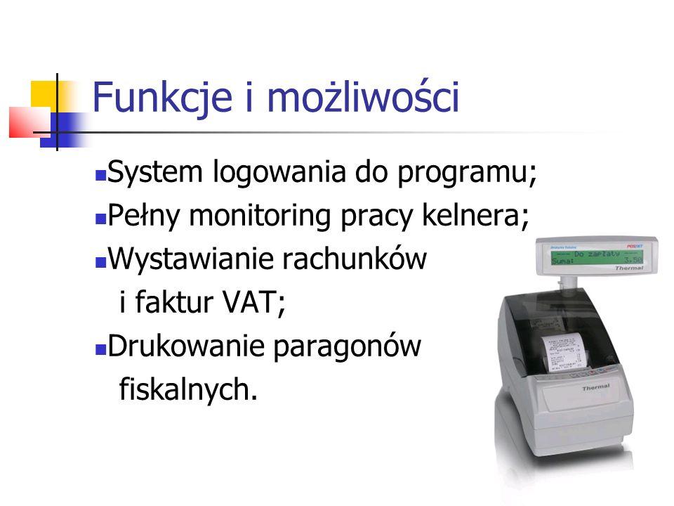 Funkcje i możliwości System logowania do programu;
