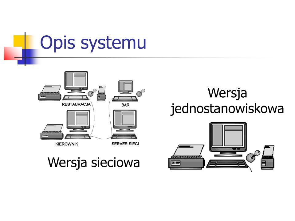 Opis systemu Wersja jednostanowiskowa Wersja sieciowa