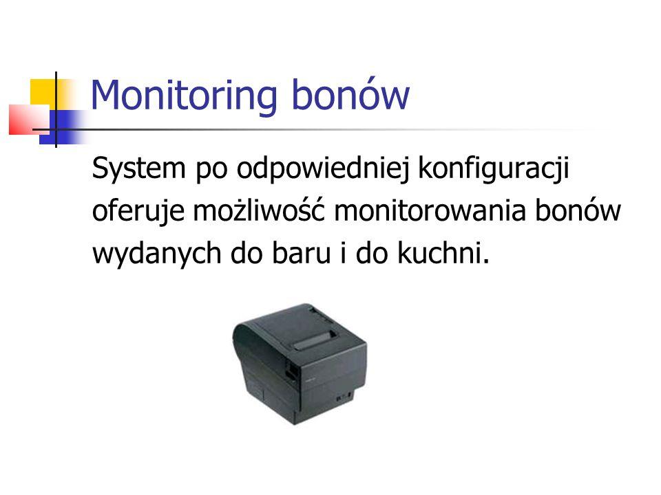 Monitoring bonów System po odpowiedniej konfiguracji