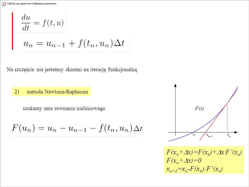 F(xn+Dx)=F(xn)+Dx F'(xn) F(xn+Dx)=0 xn+1=xn-F(xn)/F'(xn)