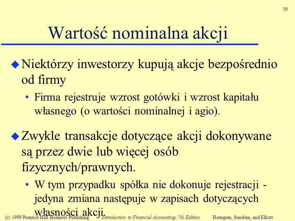 Wartość nominalna akcji