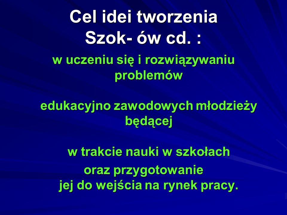 Cel idei tworzenia Szok- ów cd. :