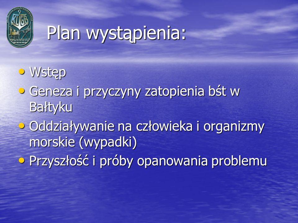 Plan wystąpienia: Wstęp Geneza i przyczyny zatopienia bśt w Bałtyku