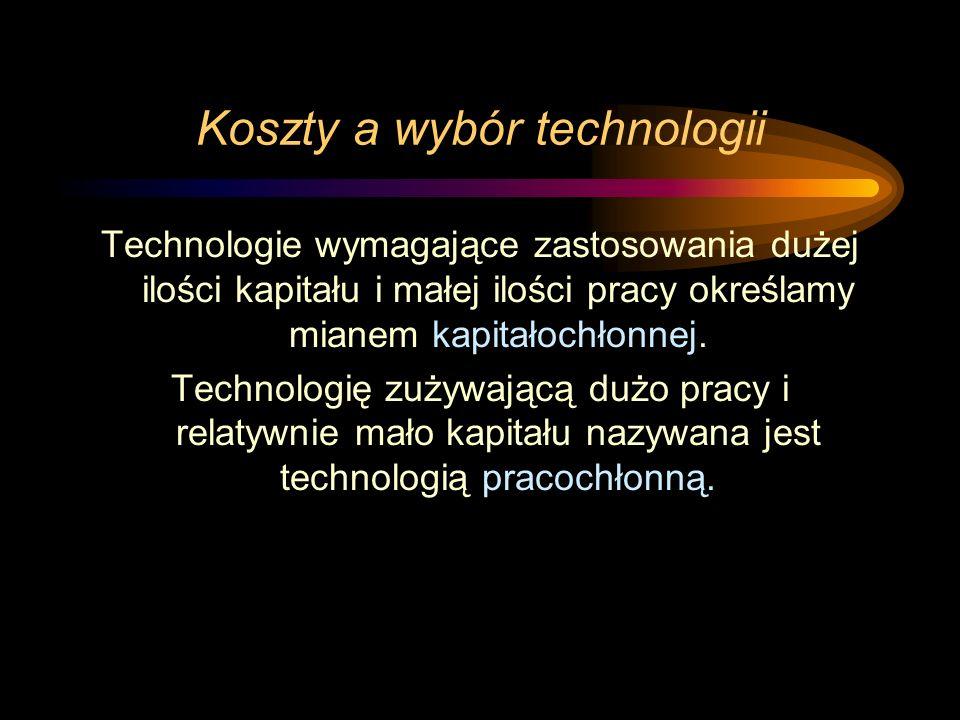 Koszty a wybór technologii