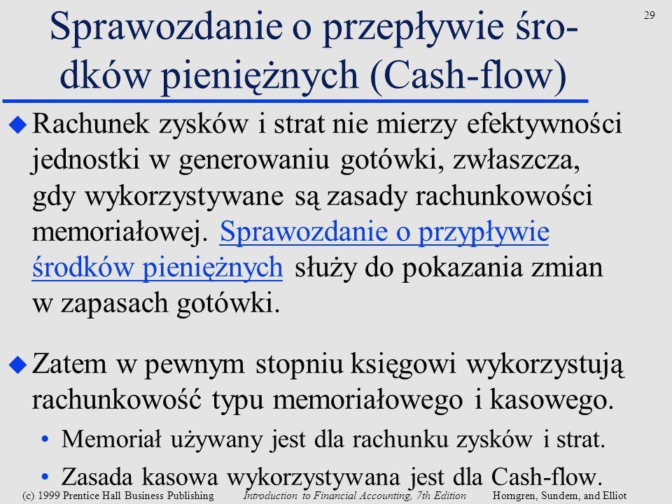 Sprawozdanie o przepływie śro-dków pieniężnych (Cash-flow)