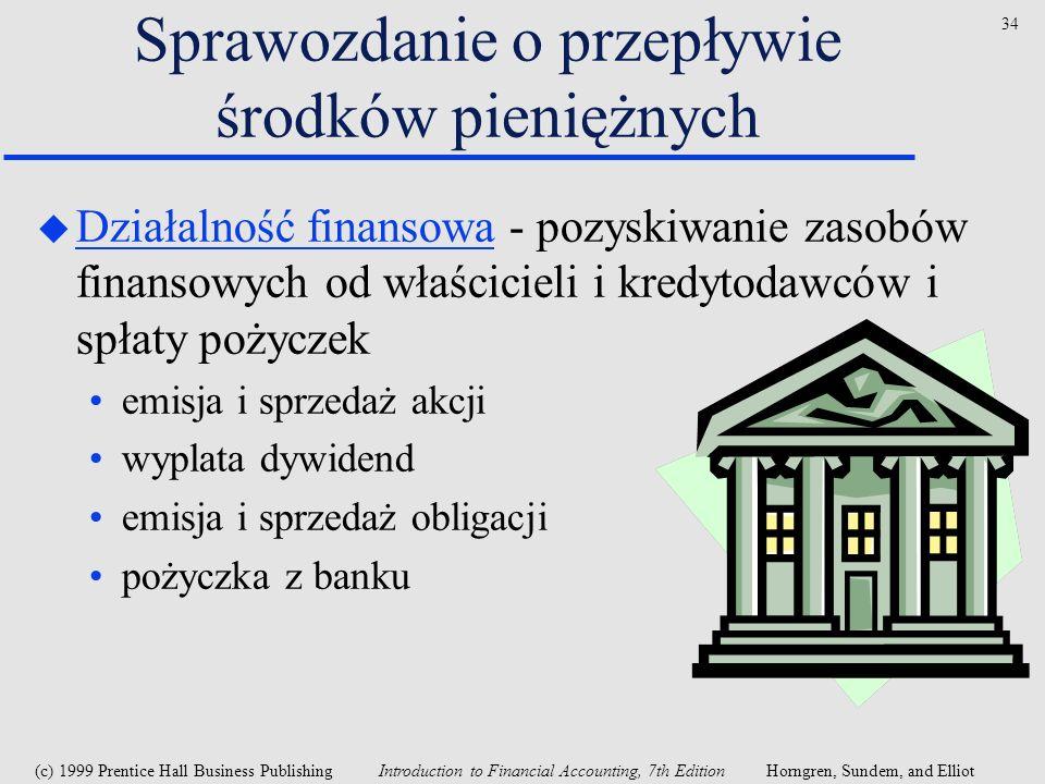 Sprawozdanie o przepływie środków pieniężnych