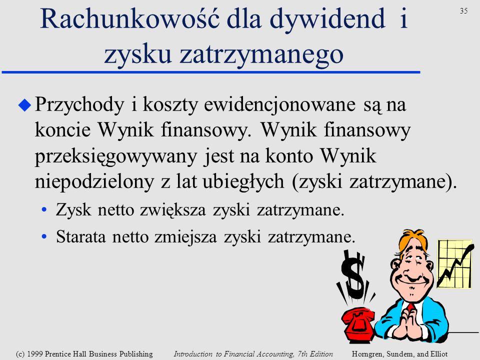 Rachunkowość dla dywidend i zysku zatrzymanego