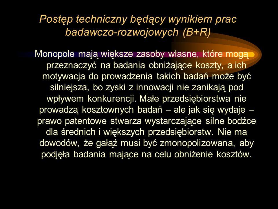 Postęp techniczny będący wynikiem prac badawczo-rozwojowych (B+R)